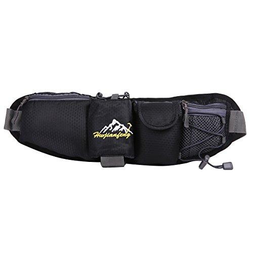 HWJIANFENG Borsa da Trekking Outdoor Unisex Protezione Impermeabile Marsupio per Ciclismo Alpinismo Zaino Escursionismo di Corsa Sacchetto Campeggio nero