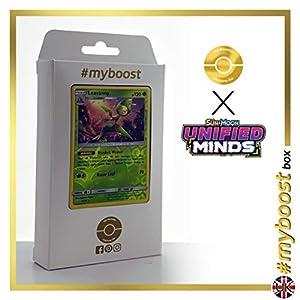 Leavanny 9/236 Holo Reverse - #myboost X Sun & Moon 11 Unified Minds - Box de 10 cartas Pokémon Inglesas