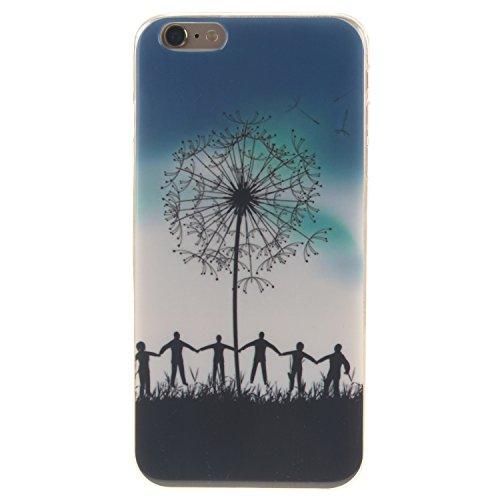 "Coque iPhone 6s, MOONCASE iPhone 6 Slim Coque Housse Etui Silicone Parfait Soft TPU Back Case Cover pour iPhone 6 (2014) / 6s (2015) 4.7"" - TX01 Fleurs Series - TX14"