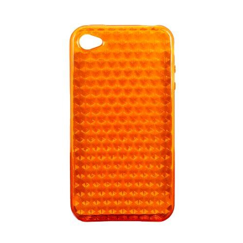 Luxburg® Diamond Design Schutzhülle für Apple iPhone 4S / 4 in Farbe Tigerauge Orange, Hülle Case aus TPU Silikon