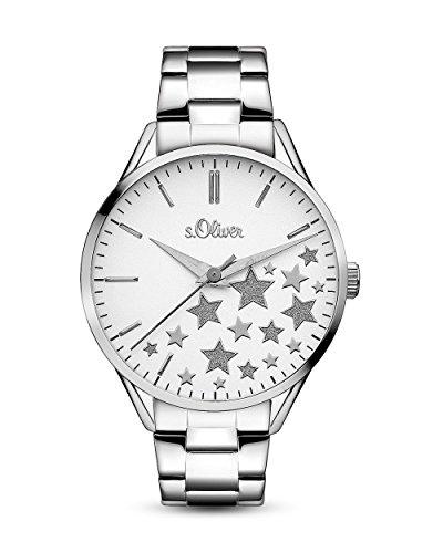 s.Oliver Damen-Armbanduhr Analog Quarz