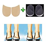 Orthopedic Insoles Shoe Inserts Medial & Lateral Heel Wedge Silicone Pads