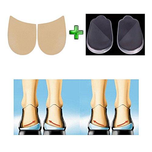 Mediale und laterale Absatz Keil Schuh Einlagen–korrigierenden Fuß Ausrichtung knock-knees Schleife Beine