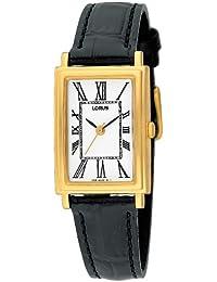 Lorus RRS10LX9 - Reloj analógico de cuarzo para mujer con correa de piel, color negro