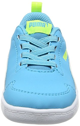 Puma Courtflex Inf, Scarpe da Ginnastica Basse Unisex – Bambini Blu (Blue Atoll-puma White 02)