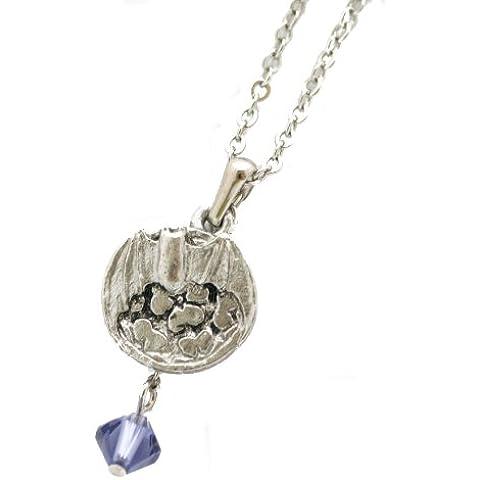 Mon'ya collana della piuma della decorazione in argento serie 3 Chosokabe Motochika (japan import)