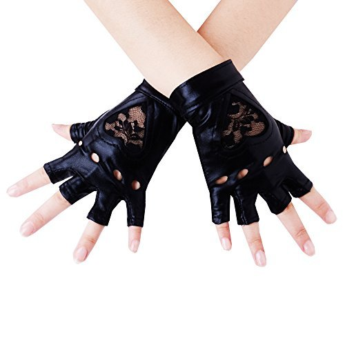 JISEN Damen Handschuhe Gr. Einheitsgröße, schwarz