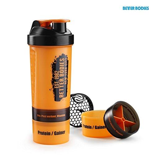 Better Bodies Gym Shaker (800ml), Größe:Universalgröße;Farbe:orange