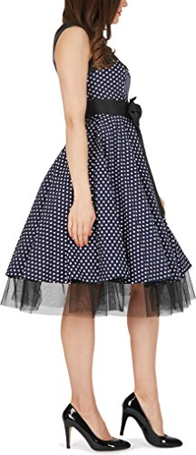 'Athena' Polka-Dots Kleid mit großer Schleife - 2
