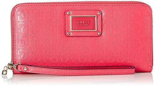 Guess Damen Shannon SLG Large Zip Around Geldbörse, Pink (Coral), 21x10x2 Centimeters