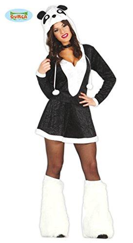 sexy Panda Karneval Motto Party Kostüm für Damen Pandabär Kleid Tier Damenkostüm Tierkostüm Gr. XS-M, (Warm Sexy Halloween Kostüme)