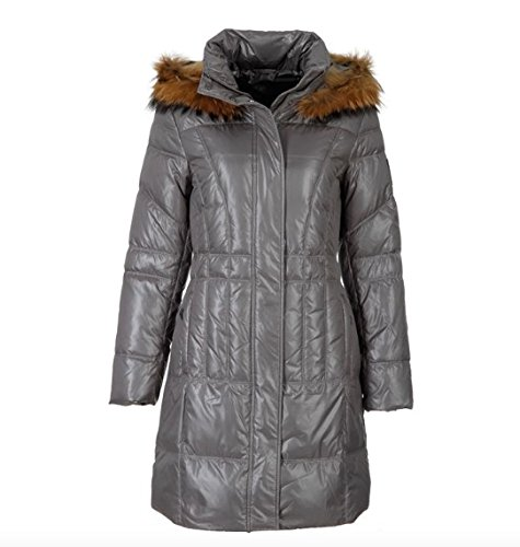 Sportalm Kitzbühel Damen Mantel Kiss mit Fell Grau alle Größen Neu mit Etikett (34 XS)