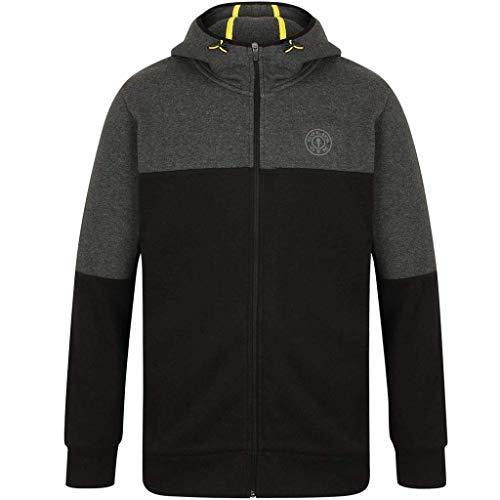 Gold's Gym 2019 Full Zip Technischer Hoodie Herren Fitness Pullover Black/Charcoal Marl XL