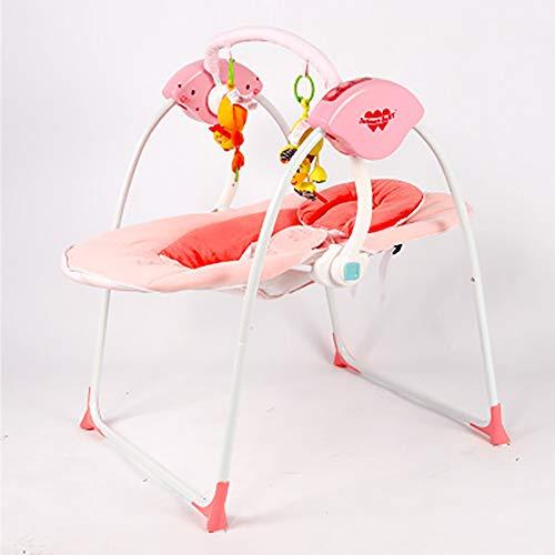 SHARESUN Elektrische Schaukel-Hängematte, New-Born Baby Swing Chair und Bouncer mit Songs und Sounds, von Geburt an geeignet, Indoor Outdoor,Pink (Baby Swing Und Bouncer)
