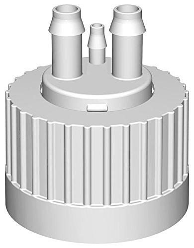 versacap 38–430Flaschenverschlüsse, mit Deckel, mit Hose Barb Adapter mit 1/4-1/4-Zoll-ID Tubing, 1/8Zoll) barbs Barb für 1/8-Zoll-Tubing, (4Stück)