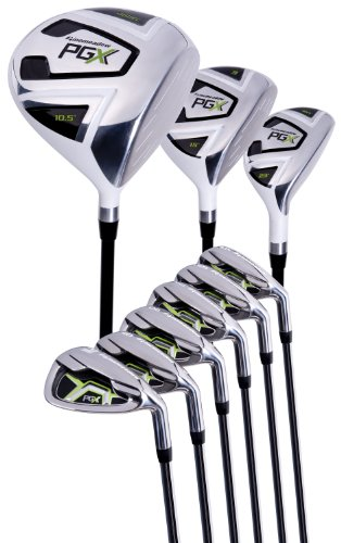 pinemeadow Herren PGX Golf set-driver, Holz 3, Hybrid, 5 PW Eisen (Flex)