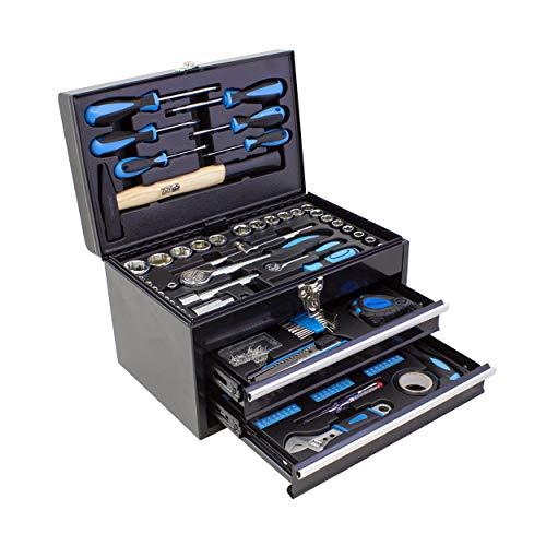 Karcher Mallette à outils 117 pièces - Ensemble d'outils avec marteau, tournevis, jeu de douilles et beaucoup plus