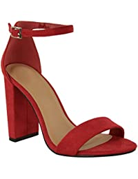 Fashion Thirsty Womens Ladies Block High Heels Ankle Strap Sexy Open Toe Sandals  Shoes Size New 8fc851ad2324