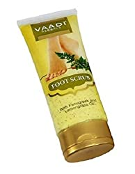 Vaadi Herbals Foot Scrub with Fenugreek and Lemongrass Oil, 110g