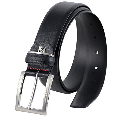 Ledergürtel Herren / Gürtel Herren Pierre Cardin, 70080 schwarz, Size:105