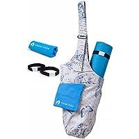 8e8642fee10 Yasana Sac pour tapis de yoga Sling Tote – avec bandoulière réglable et 2  poches