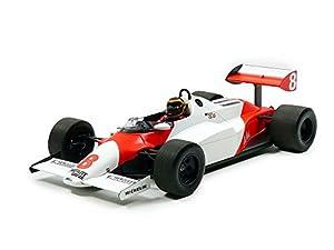 Minichamps 537831898-MC-Laren MP4/1C-bellof Test Silverstone noviembre 1983-Escala 1/18-Blanco/Rojo Fluo