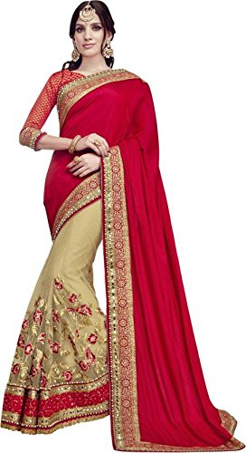 Sareeshop Georgette Saree With Blouse Piece (_Red_Free Size)