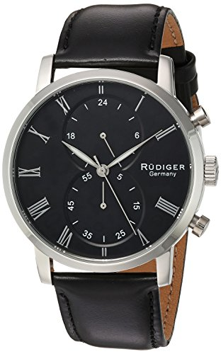 Rudiger Men's R2300-04-007 Bavaria Analog Display Quartz Black Watch