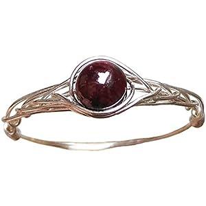 20.75 (15.75-21.25 Verfügbar) Natürlich Granat 925 Sterling Silber String Wicklung Edelstein Handgefertigt Ring