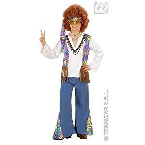 WIDMANN Kinder-Kostüm-Set Woodstock Hippie-Junge, GröÃ?e 158