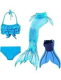 shepretty Meerjungfrauenschwanz zum Schwimmen für Kinder