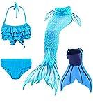 shepretty Ragazze Coda da Sirena Bikini Cosplay Costumi da Bagno Set per Nuotare per Bambini,Dh06,130