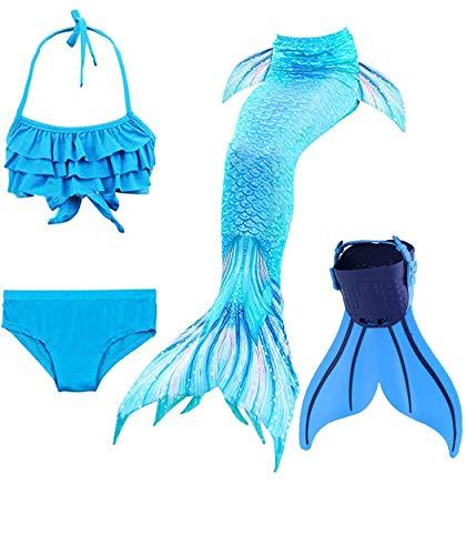 shepretty Meerjungfrauenschwanz zum Schwimmen für Kinder,DH06,140