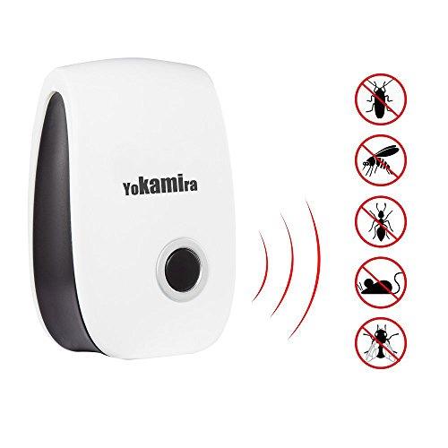 Yokamira Repellente Ultrasuoni e Elettromagnetico per Topi, Insetti, Zanzare, Ratti, Scarafaggi, Mosche,...