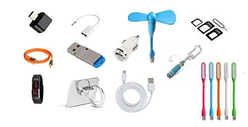 12 IN 1 MEGA COMBO PACK OF MOBILE ACCESSORIES