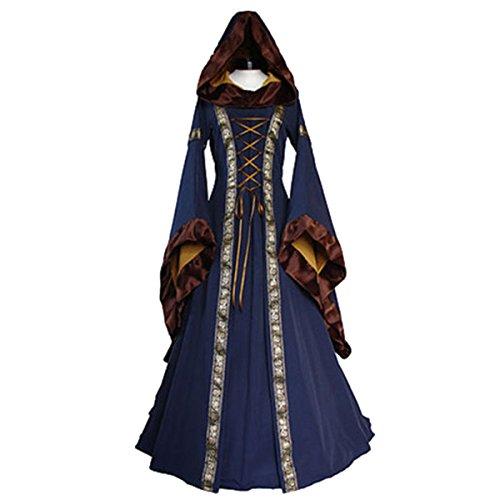 Kostüm als Dame der Renaissance für Erwachsene Hood Damen Kostüm (Kleid Blaue Renaissance)