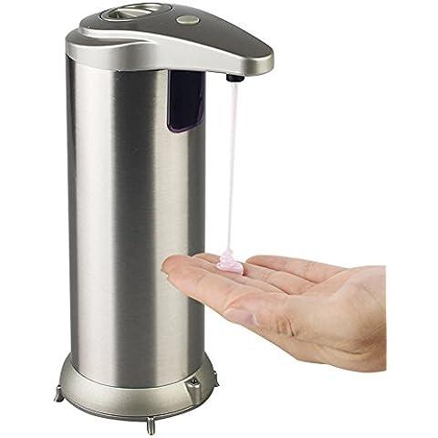 Sensore dispenser di sapone, UMCORP a mano automatico Touchless sensore a infrarossi dispenser di sapone per Bagno Cucina - impronta digitale resistente acciaio inossidabile spazzolato - compatibile per mano Sanitiser
