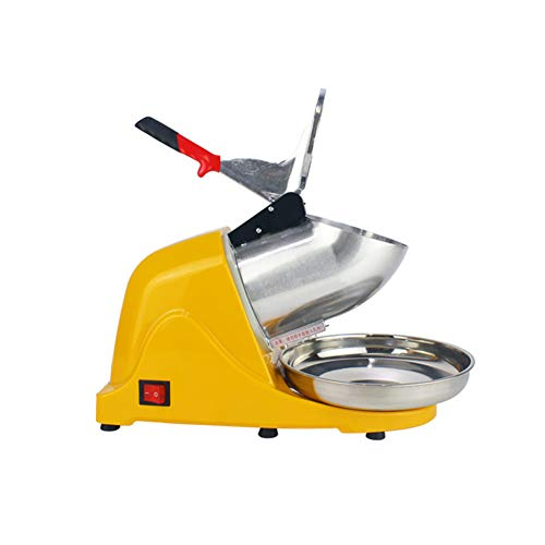 DGYAXIN Picadora de Hielo, Carcasa de Acero eléctrico Batidos Slush Machine Inoxidable Trituradora...