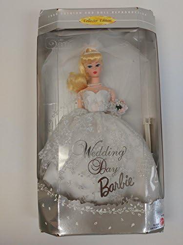 BARBIE poupée blonde - 1960 fashion and doll reproduction reproduction reproduction editon collector - wedding day - ROBE blanche DE MARIEE - le mariage - mattel 1996 B0013TOEIG 4335ab