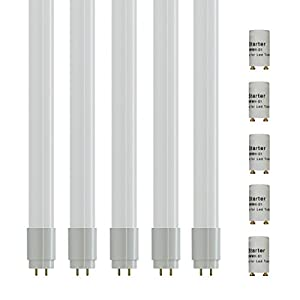 5-er ZoneLED SET - 120cm LED Röhre - T8 G13 - 18W (ersetzt 36W Gasröhre) - Weißes Licht 6400K - 1600lm - 160° Abstrahlwinkwl