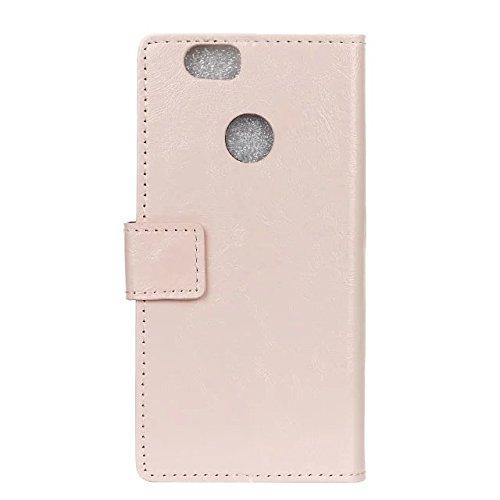 Verrückte Pferd Texture Pattern synthetische PU-Leder Fall horizontale Flip-Ständer Case Wallet Fall Deckung Solid Color Case für Huawei NOVA ( Color : Blue , Size : Huawei NOVA ) Pink