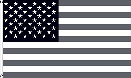 AZ FLAG Flagge USA SCHWARZ UND GRAU 150x90cm - VEREINIGTEN Staaten VON Amerika Fahne 90 x 150 cm - flaggen Top Qualität