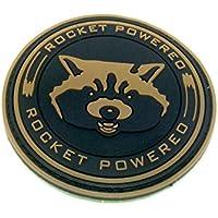 Rocket con Guardianes de la Galaxy Cosplay Airsoft Paintball PVC Parche de Moral Equipo, marrón