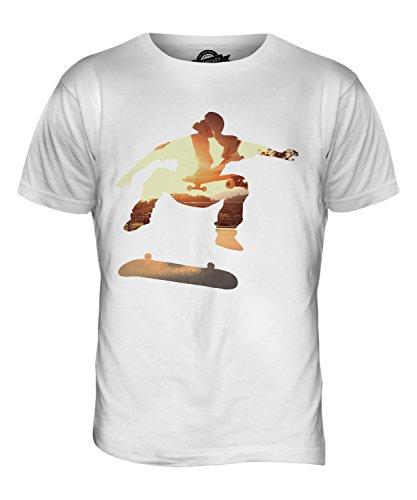 CandyMix Skateboardfahrer Herren T Shirt Weiß