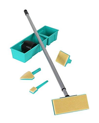 proX Profi Painter 4er Pinselset - tropffrei Decke und Wände streichen, Malerbedarf (ohne Stiel)
