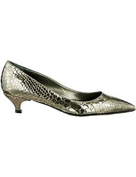 Gianrico Mori, Roxie, Decoltè scarpe donna in vera pelle tacco basso Made in Italy