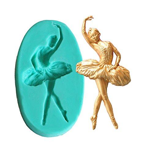 orm Ballerina Mädchen Stil Kekse Fondant Form Schokolade Kuchen Dekorieren DIY Handgemachte Backwerkzeuge für Geburtstag Urlaub Party ()