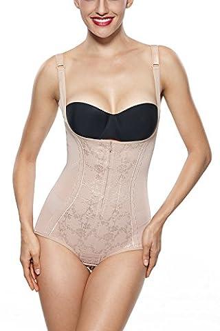 Franato Womens Lace Underbust Tummy Control Body Shaper Shapewear