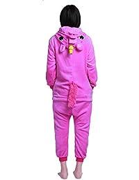 YIZYIF Pijama Unicornio Unisex Niños Mona Pijama invierno Cosplay disfraz de Animal Una pieza de Ropa para dormir