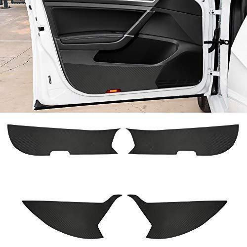 Preisvergleich Produktbild SENZEAL 4pcs V W Golf 7 Alltrack Plus Variant Innentür Seite Kohlefaser Auto Anti-Kick Aufkleber